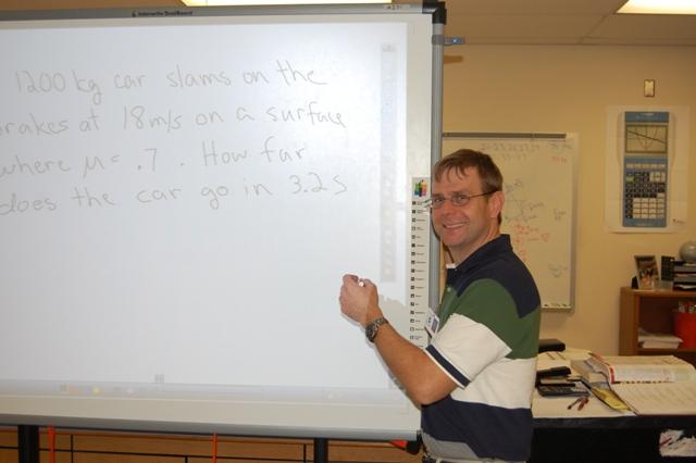 Physics teacher, David Kasprzyk