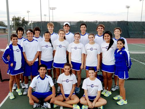 CHS Varsity Tennis wins District Championship