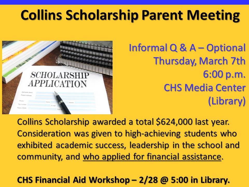 Collins Scholarship Parent Meeting