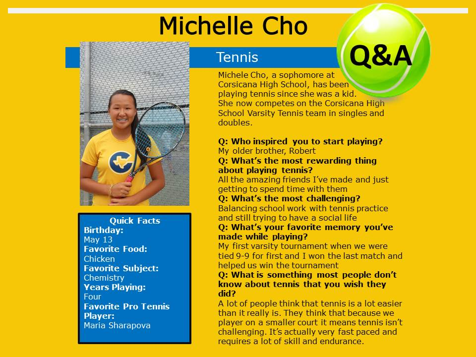 Michelle Cho Tennis