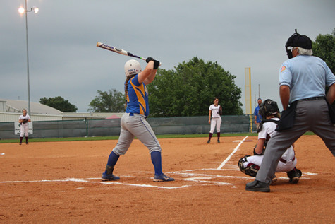 Leeah Seth helps the Corsicana Tigers Varsity down Whitehouse 8-4