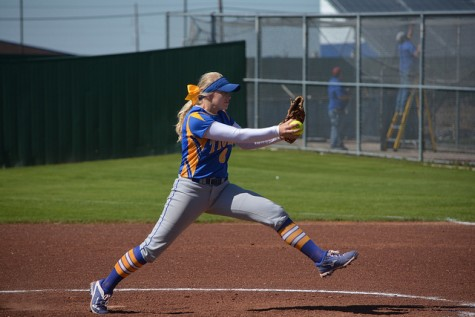 Chelsea Vandiver hits and pitches the Corsicana Tigers Varsity to 13-3 victory
